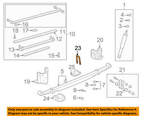 Details about TOYOTA OEM 14-18 Tacoma Rear Suspension-U-bolt 90117A0005
