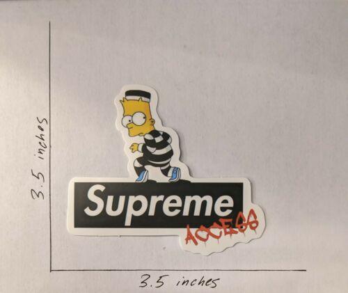 Bart Simpson Robber Laptop Bottle Phone Skateboard Decal Sticker Suprem