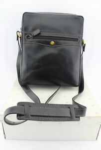GOLDPFEIL-OXFORD-Mens-Travel-Bag-Shoulder-Bag-New-in-Original-Box-Leather-Black-New