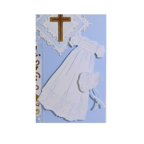 Christening Gown Metal Die Cut Cottage Cutz Baptism Hat Cutting Dies CC4x4-497