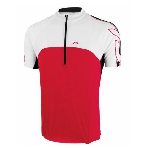 Protective Chiro Herren Fahrrad Trikot Kurz Jersey Rennread Shirt weiß rot