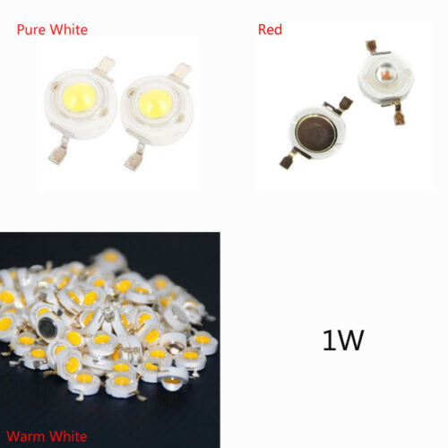 20//50//100pcs 1W High Power Chip LED Bulb Diodes Bead Warm Pure Weiß Rot BAF