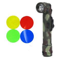Army FLECKTARN Camo Right-Angle TL-142 TORCH - Small Military LED Flashlight