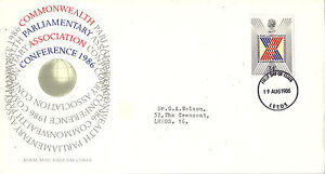 19 AUGUST 1986 COMMONWEALTH CONFERENCE ROYAL MAIL FIRST DAY COVER LEEDS FDI - Weston Super Mare, Somerset, United Kingdom - If the item you received has in any way been wrongly described or we have made a mistake regardless of the nature we will pay your return postage costs. If however the error is yours you pay for the return pos - Weston Super Mare, Somerset, United Kingdom