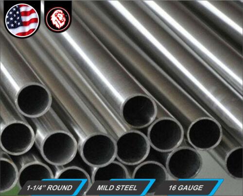 "24/"" Long ERW 16 gauge Cold Formed Mild Steel 1-1//4/"" Round Tube 2-ft"