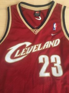 on sale cb0ab 99056 Details about Vtg Lebron James Cleveland Cavaliers 23 XXL +2 Nike Swingman  Jersey NBA Finals