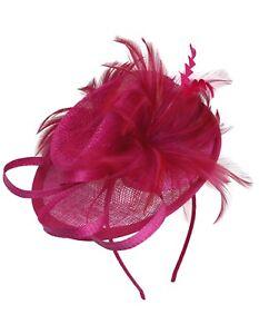Image is loading WEDDING-HAT-Fuschia-Fuchsia-Fascinator-Races-Lady-Day- e960e05c80e