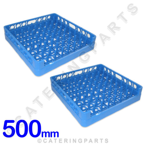 2 X 500mm OPEN MOUTHED ONE ENDED DISHWASHER RACKS FOR OVER-SIZED PANS AND TRAYS