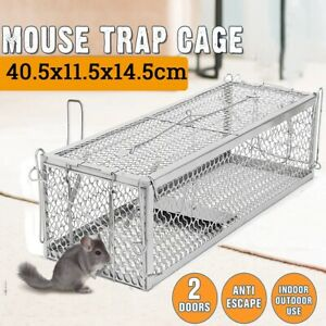 Mousetrap Cage Double Entry Rat Spring Trap Animal Rodent Catcher Control Large