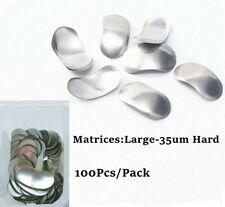 100pcs Dental Sectional Contoured Matrices Matrix Bands Refill 35um Hard Large