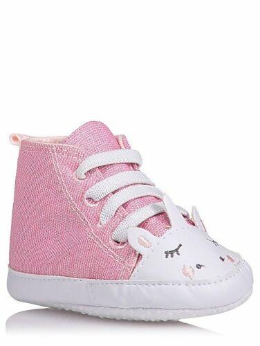 George Baby Girl Pink Unicorn Hi Top Soft Shoes