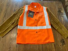 Black Stallion Hybrid Jacket Flame Resistent Welding Orange Mens Medium