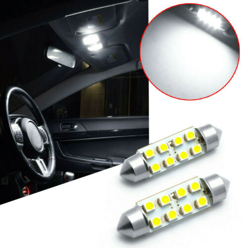 9Pcs Car Interior LED Lamps Package Kit For Map Reading License Plate Light Bulb