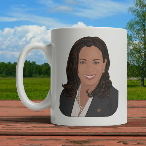 Kamala Harris Portrait Mug Personalized Custom Coffee Cup Tea 2020