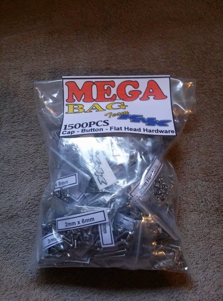 buon prezzo Mega borsa 1500pc 3mm & 2mm Stainless Steel Screws BULK BULK BULK squadra KNK Hardware scx10 RC  la migliore selezione di