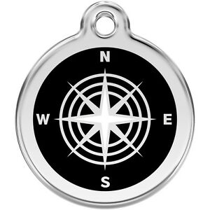 Black-Compass-Engraved-Red-Dingo-Dog-Cat-ID-identity-Tags-discs-1CM