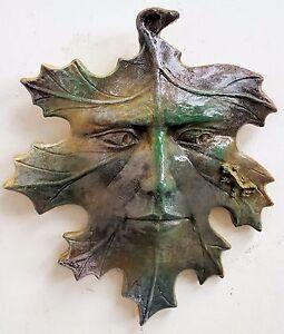 Leaf Green man Lizard Mythical Wall Decor Green man Sculpture