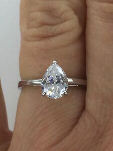Dani by Daniel K Designer 3 CTW 5 Emerald Cut CZ Stone Band Silver Ring Size 6.5