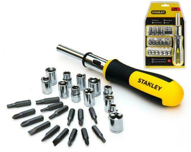 Stanley STHT0-62143 Set 57 pz giraviti e inserti e chiavi a bussola pi/ù Giravite Porta Inserti