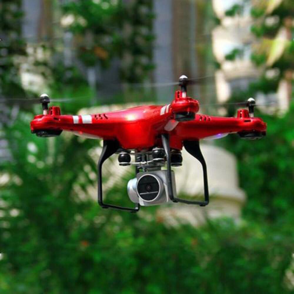 RC Quadcopter Drone con WIFI FPV Vivere obiettivo grandangolare HD Elicottero TELECAMERA ROSSO