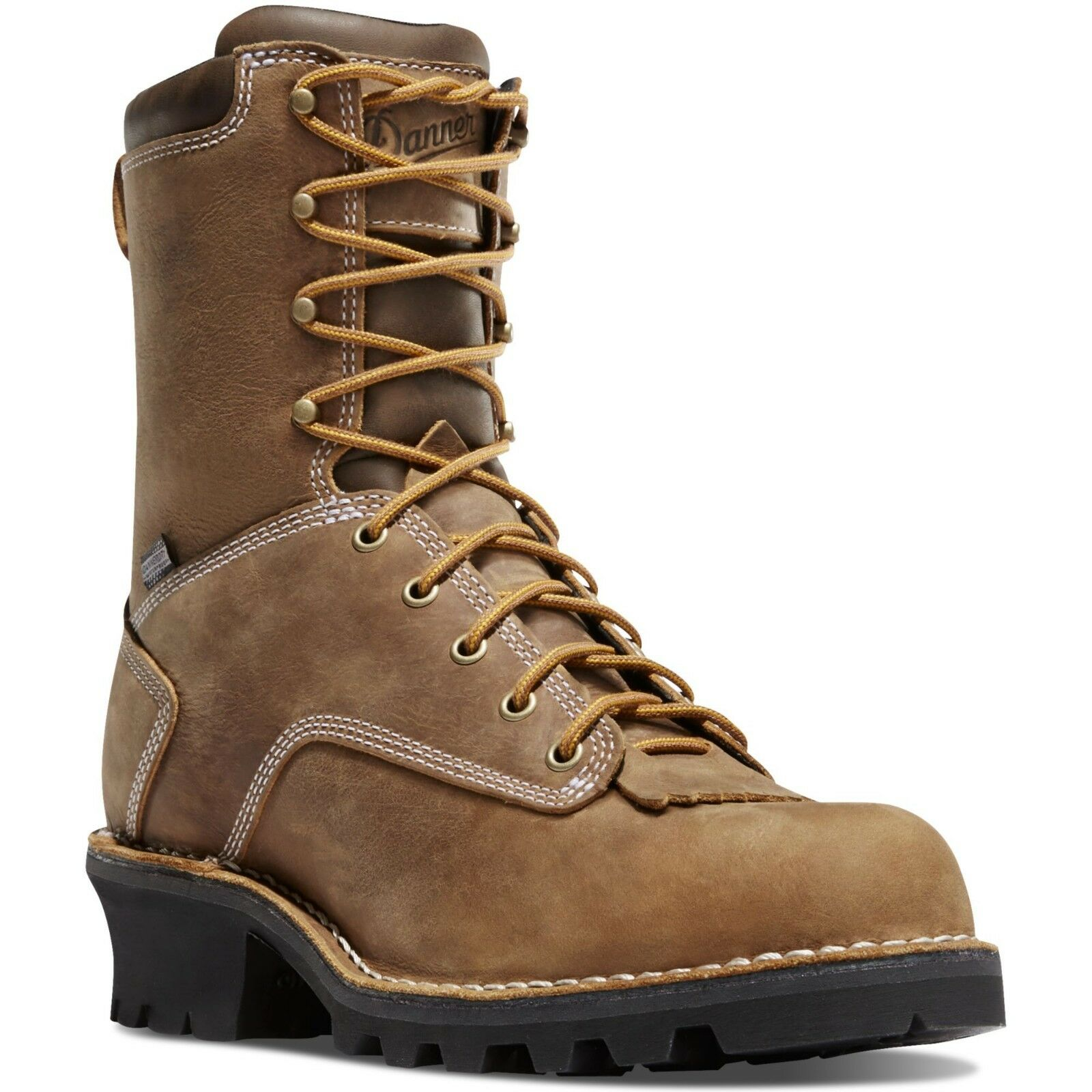 Danner Men's 15435 Logger 8  Brown Insulated 400G EH Leather Work Safety Boots