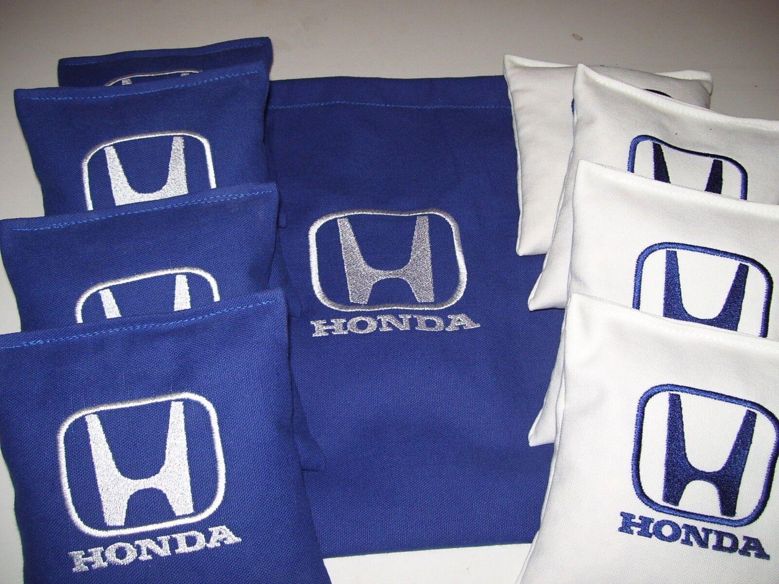 Honda Auto Embroidered Cornhole Corn Hole Set of 8 Bags W Storage Bag