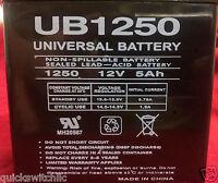12v 5ah Ub1250 Battery Home Alarm System Ademco Panel Vista Dsc Sla Replacement