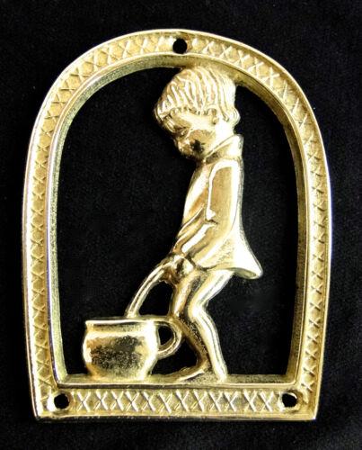 Wc Schild Türschild Toilette Schild Messing 8x10 cm Mädchen /& Junge 1082318