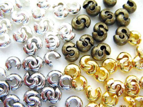 Kaschierperlen cachette Perles crimpschutz sertir Cover 4//5mm 20//50//100 Pièces