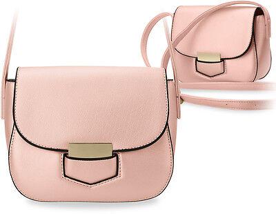 552d3cc1e3896 elegante Damentasche klein Schultertasche Messengertasche steife Ausführung  rosa