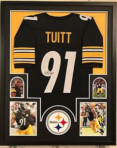Image is loading FRAMED-STEPHON-TUITT-AUTOGRAPHED-SIGNED-PITTSBURGH-STEELERS -JERSEY- c95272593