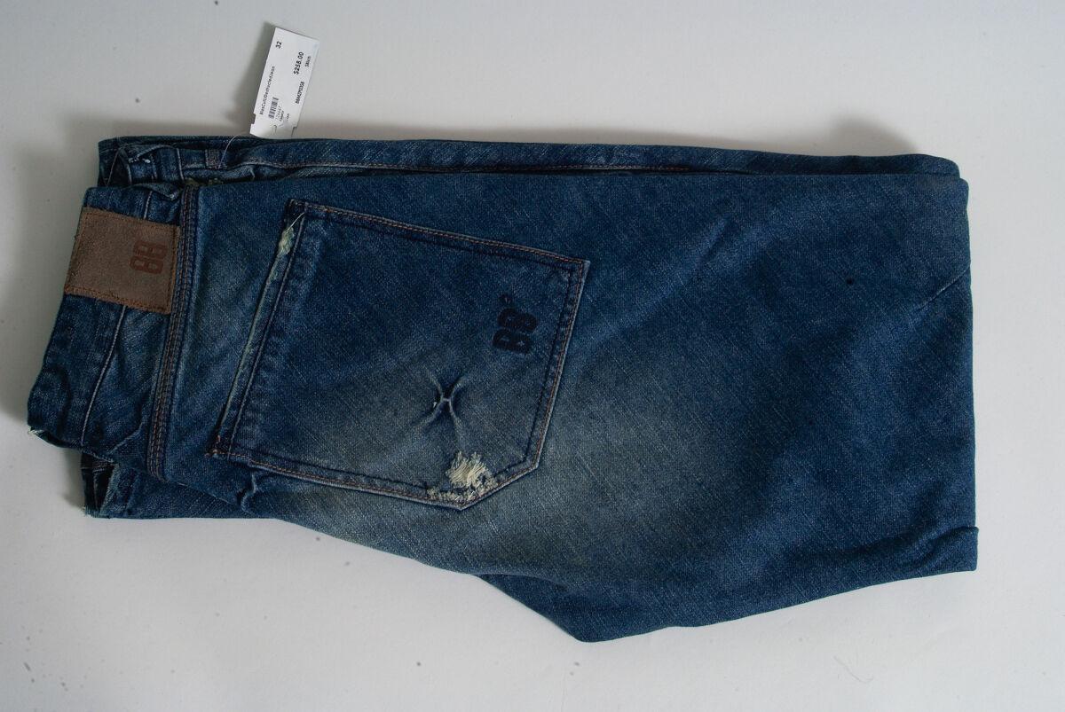 Neuf Avec Étiquettes bleu Blood BRAND Denim Jeans blascutltdestructedjean taille  30-38