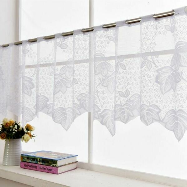 Country Style Embroidered Kitchen Cafe Curtain Window