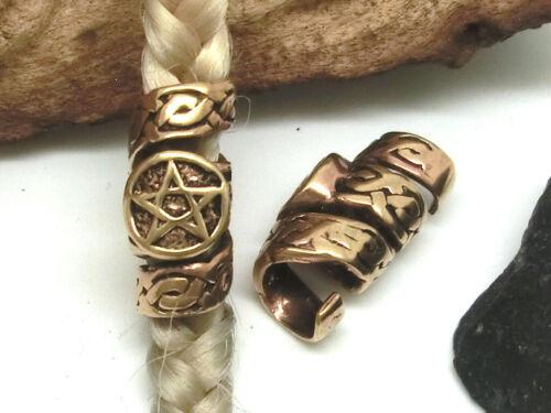 Pentagram Knot Bart Pearl Hair Pearl Bronze Dreads Hair Bead Vikings Celtics