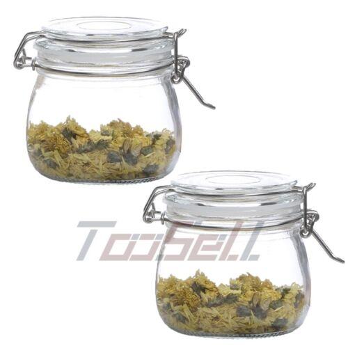 1-6PCS 25Oz Glass Jars Airtight Lids Proof Rubber Gasket Wide Mouth Food Storage