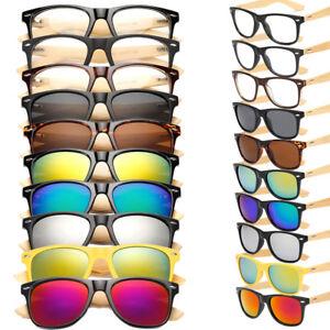 Womens-Mens-Fashion-Sunglasses-Cat-Eye-Vintage-Bamboo-Temple-Retro-UV400-Glasses