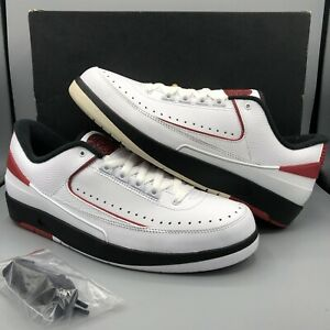 new product bd4c8 767eb Details about Nike Air Jordan Retro II Low White Red Black 832819 101 Size  10.5 Chicago I III
