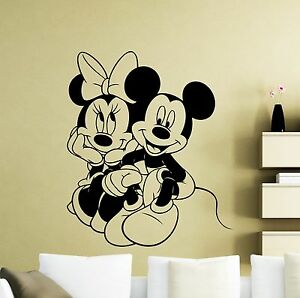 Image Is Loading Mickey Minnie Mouse Wall Decal Disney Cartoons Vinyl  Part 62