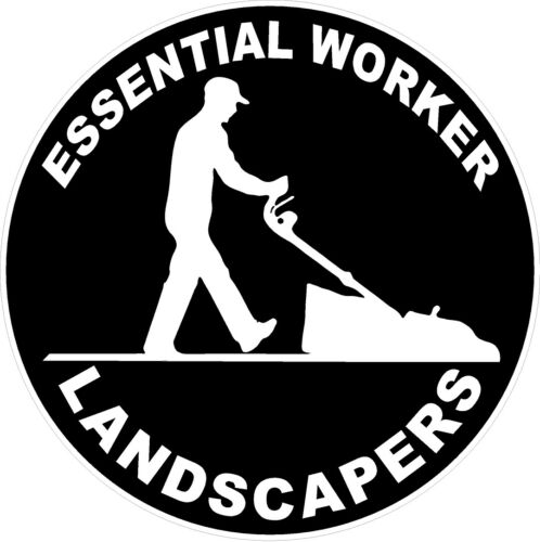 Essential Worker Landscapers Decal
