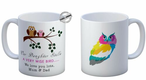 Any name and text IL 2095 Personalised DAUGHTER WISE OWL MUG cup