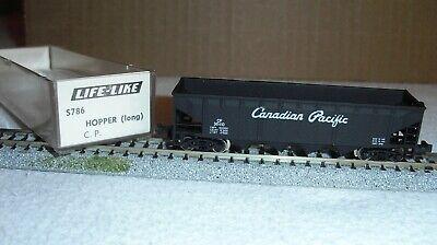 N Scale Life Like CANADIAN PACIFIC 40/' Quad Bay Hopper,Script logo