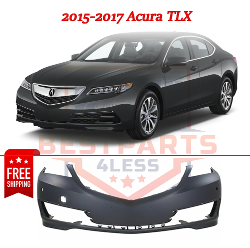 Front Primed Bumper Cover CAPA For 15-17 Acura TLX, W