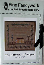 The Homestead SAMPLER Fine Fancywork PATTERN cross stitch counted thread