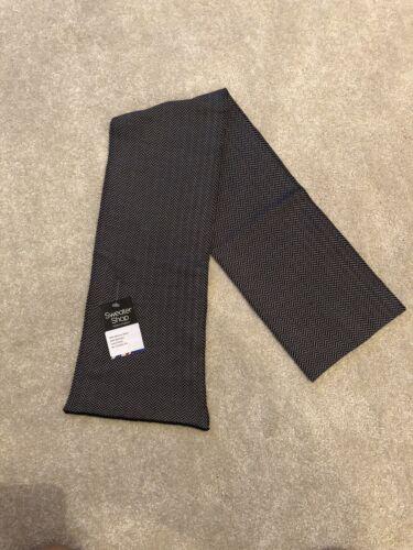 Made in the UK by SweaterShop Herringbone Scarf 50/% Merino Wool /& 50/% Bamboo