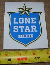 LONESTAR lone star National Beer Texas STICKER decal craft beer brewery brewing