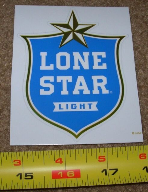 LONESTAR lone star LIGHT blue LOGO STICKER decal craft beer brewery brewing