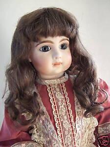 Perruque 100% Cheveux Naturels Pour Poupee Ancienne-doll Wigs- Floue 10 (33cm