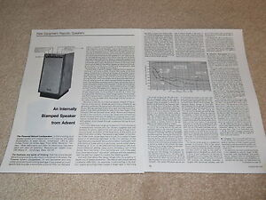 advent powered speaker review 1978 2 pg specs info. Black Bedroom Furniture Sets. Home Design Ideas