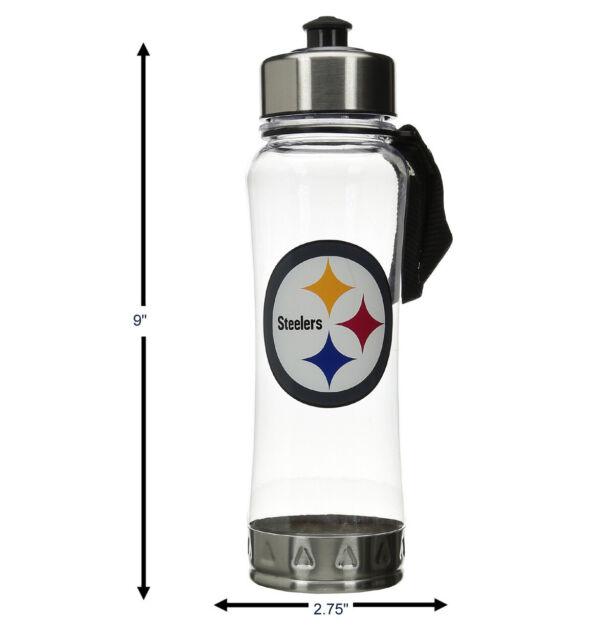 NFL Baltimore Ravens 20oz Clip-On Clear Plastic Water Bottle