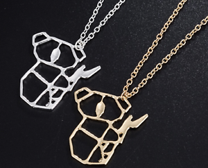 2 Colours UK Seller NEW Beautiful Origami Style Flamingo Necklace